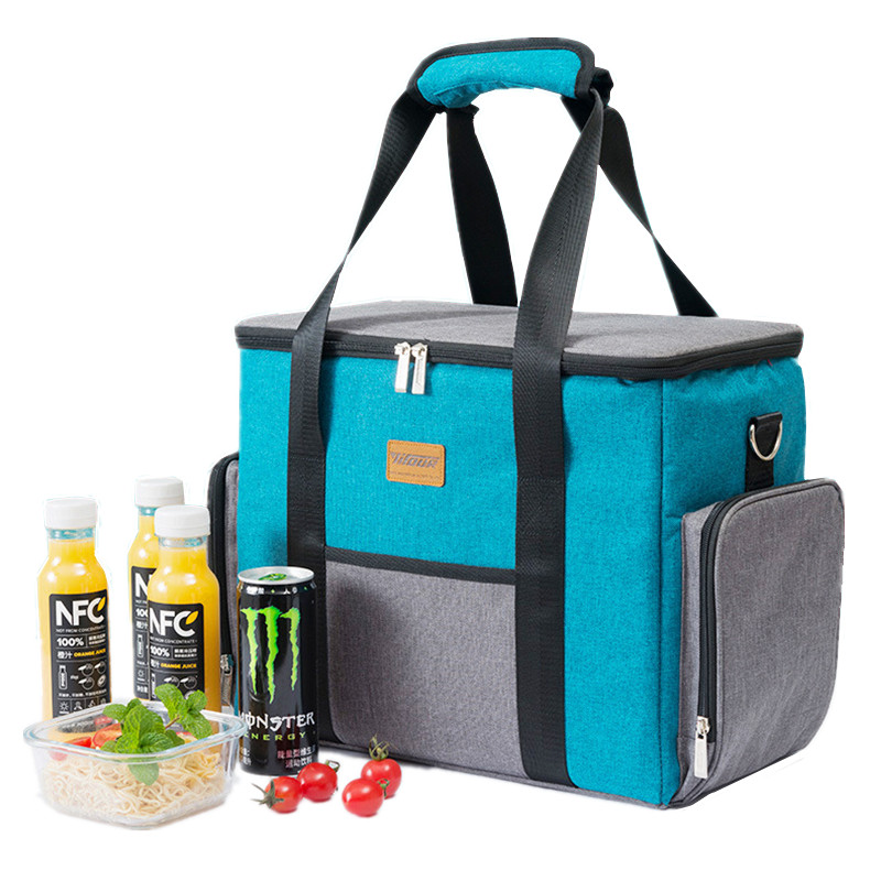 25L Extra Large Insulated Cooler Bag Portable Shoulder Thermal Tote For Lunch Weekend Picnic Food Beer Storage Container  New