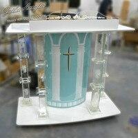 Ясно церковный Подиум принимаем заказы на логотип фойе мебель церкви Кристальные ручки для шкафов колонка