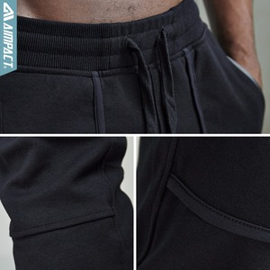 Image 5 - Aimpact 綿ジョガー男性用カジュアルフィットアクティブジョギングパンツ男性スポーティーなトレースポケットズボン AM5030