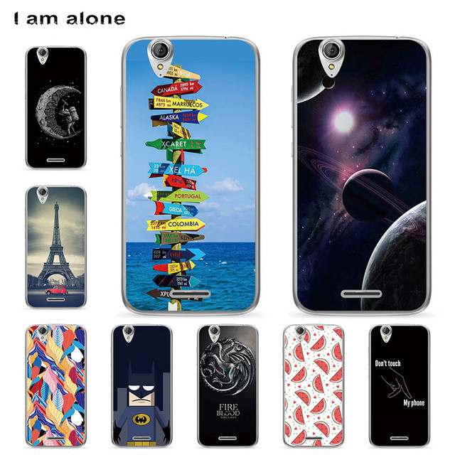 cheap for discount 9fe24 38ec1 I am alone Case For Acer Liquid Z630 Colorful Printing Drawing Transparent  Plastic Phone Cover Soft Silicone TPU Phone Cases