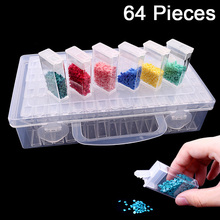 Diamond embroidery diamond painting tool! 64 lattice, transparent plastic storage box,  Grid jewelry Drill Storage Box t k excellent practical tool box screws storage black simple portable tool storage box self tapping screws device plastic 1pcs