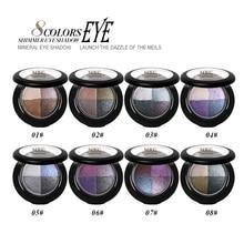 MRC 8 Colors Baked Eyeshadow Eye shadow Palette in Shimmer Metallic Eyes Makeup Cosmetics Tools
