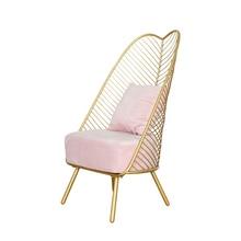 Новинка, металлический стальной стул для отдыха, стул из железной проволоки, полый обеденный кофейный металлический барный стул, банановый лист, свадебный стул