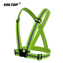 Safety Reflective Vest Moto Belt Motorcycle Body Seat Belt Running Cycling Bike Climbing Outdoor Sports Clothing Vest reflective safety vest belt for kid child children pupil security reflective waistcoat belt for outdoor running jogging cyclin