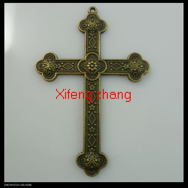 Free shipping 50 pcs/lot 80x53 mm Cross shape zinc alloy charms pendants charms