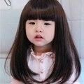 1 шт. новые дети красивая девушка парики волосы длинные прямые ребенком младенцу ребенок парик синтетические волосы бесплатная доставка