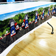 108cm*180cm Thomas & Friends Party Cartoon Tablecloth Decoration Table Cover For Children kids Birthday Supplies