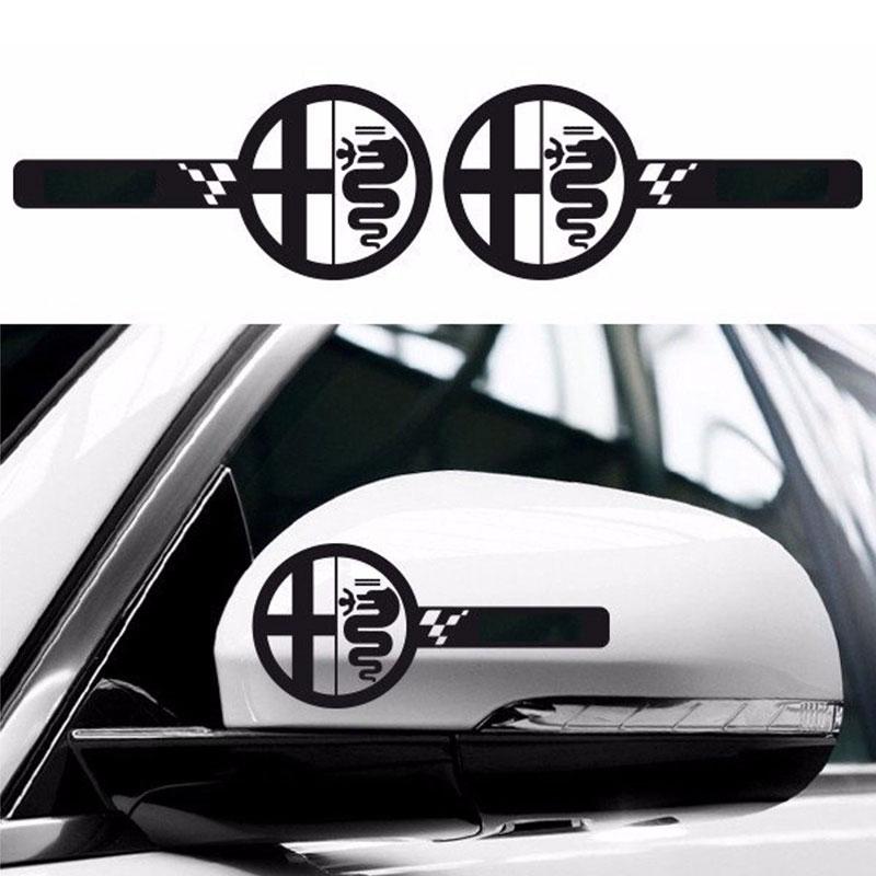 Exterior Accessories Car Stickers Automobile,gloss Black Auto Side Skirt Car Sticker Racing Stripe Side Body Garland For Alfa Romeo Mito 147 156 159 166