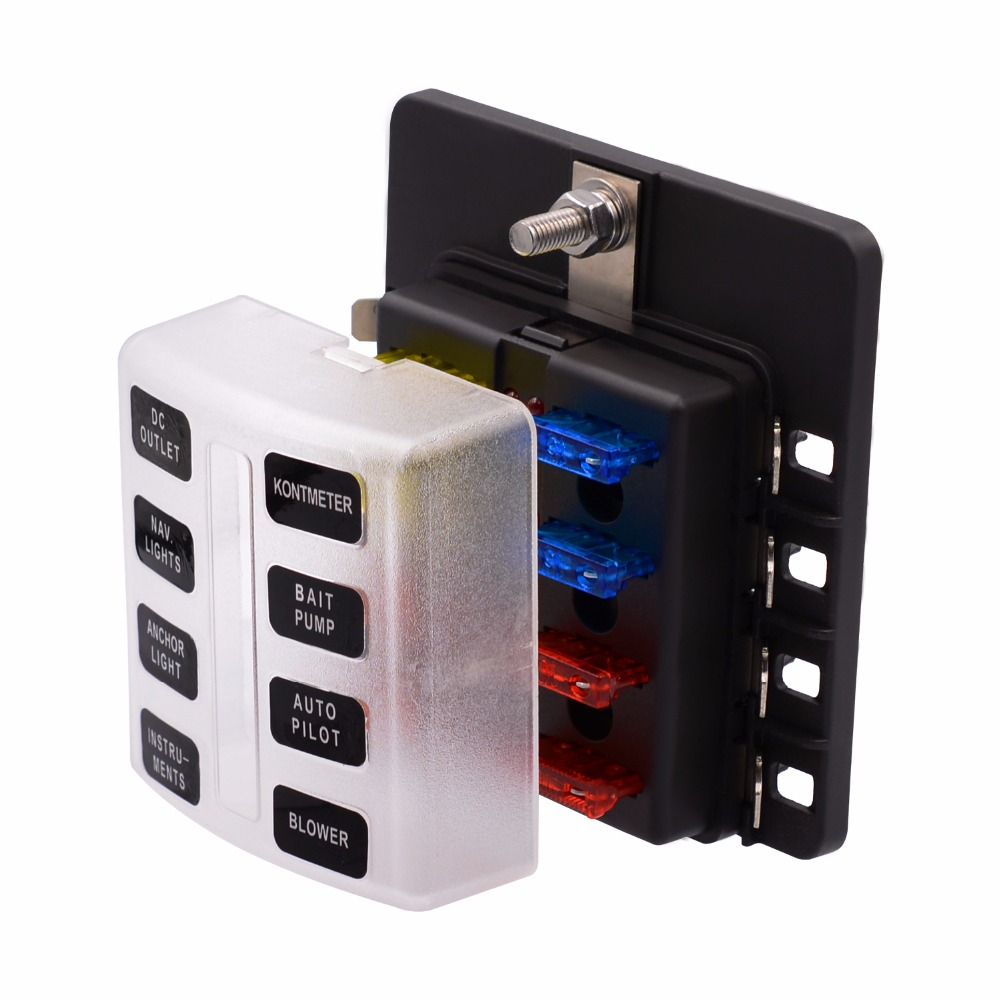8 way atc ato blade fuse box led indicator for blown fuse rh aliexpress com 100 amp fuse box size 100 amp service fuse box