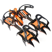 Enhanced version of climbing ice claws Universal Ice No Slip Snow Shoe Spikes Grips Cleats Winter Climbing Non Slip Shoes Cover thinkthendo new slip snow 5 stud anti ice climbing spikes grips crampon cleats shoes cover