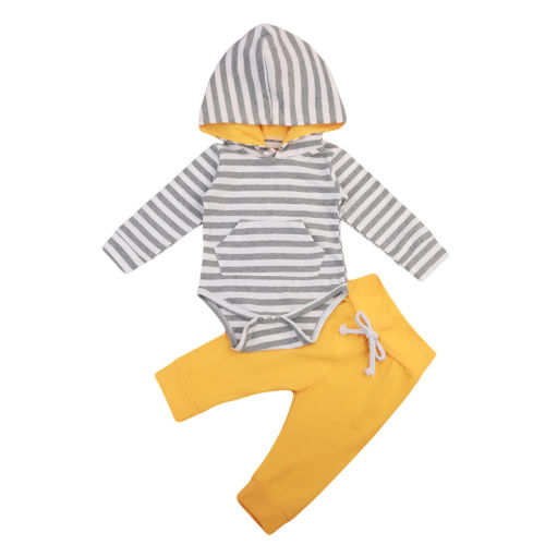 Casual Brief Warm Cotton Spring Infant Baby Boys Girls Clothes Romper Jumpsuit T-shirt Pants Outfits 2PCS Set newborn infant baby boys winter warm outfits clothes t shirt tops pants 2pcs set
