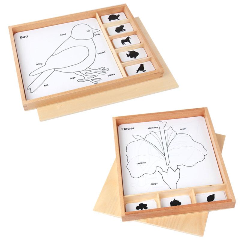 купить Wooden Montessori Toys Baby Biology Animal Puzzle Activity Set Preschool Educational Learning Toys For Kids Gift MG0664H по цене 1792.41 рублей