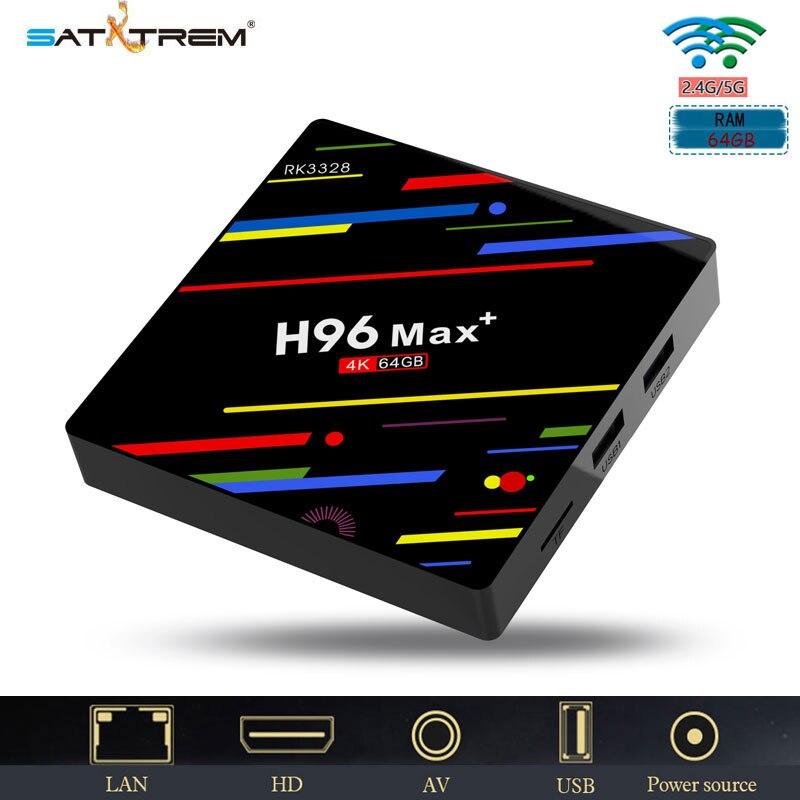 H96 max 4GB DDR3 32GB 64GB Rom Rockchip RK3328 Quad core Android 8 0 H 265