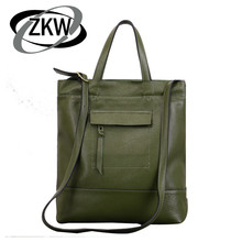 ZKW 2019 Lastest Women's Genuine Leather Luxury Handbag Of Cowleather Female Casual Totel Bags Fashion One shoulder Bag