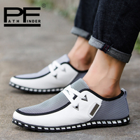 2018 Pathfinder Spring Mens Shoes Loafers Superstar Breathable Casual Shoes Single Flats Men Fashion Summer Style