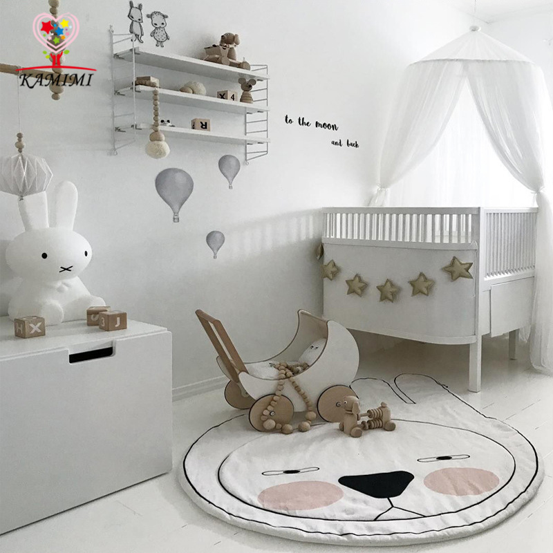 2017 New Rabbit Baby Play Mat Cotton KAMIMI Sleeping Kids Blanket Lovely Crawling Carpet Mat Children's Room Decoration Bedding