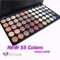 NEW #55XW 55 Color Super Ultra Shimmer Eyeshadow Palette Shinning Makeup Eye Shadow Palette Set Kit Wholesale