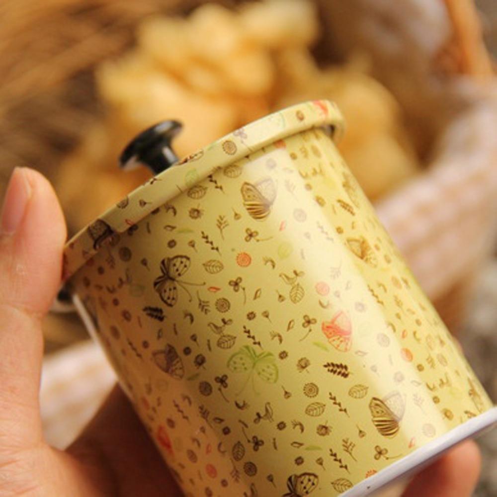 3 Unids / lote Nuevo KEYAMA Cajas de lata de té o dulces con tapa - Organización y almacenamiento en la casa - foto 4