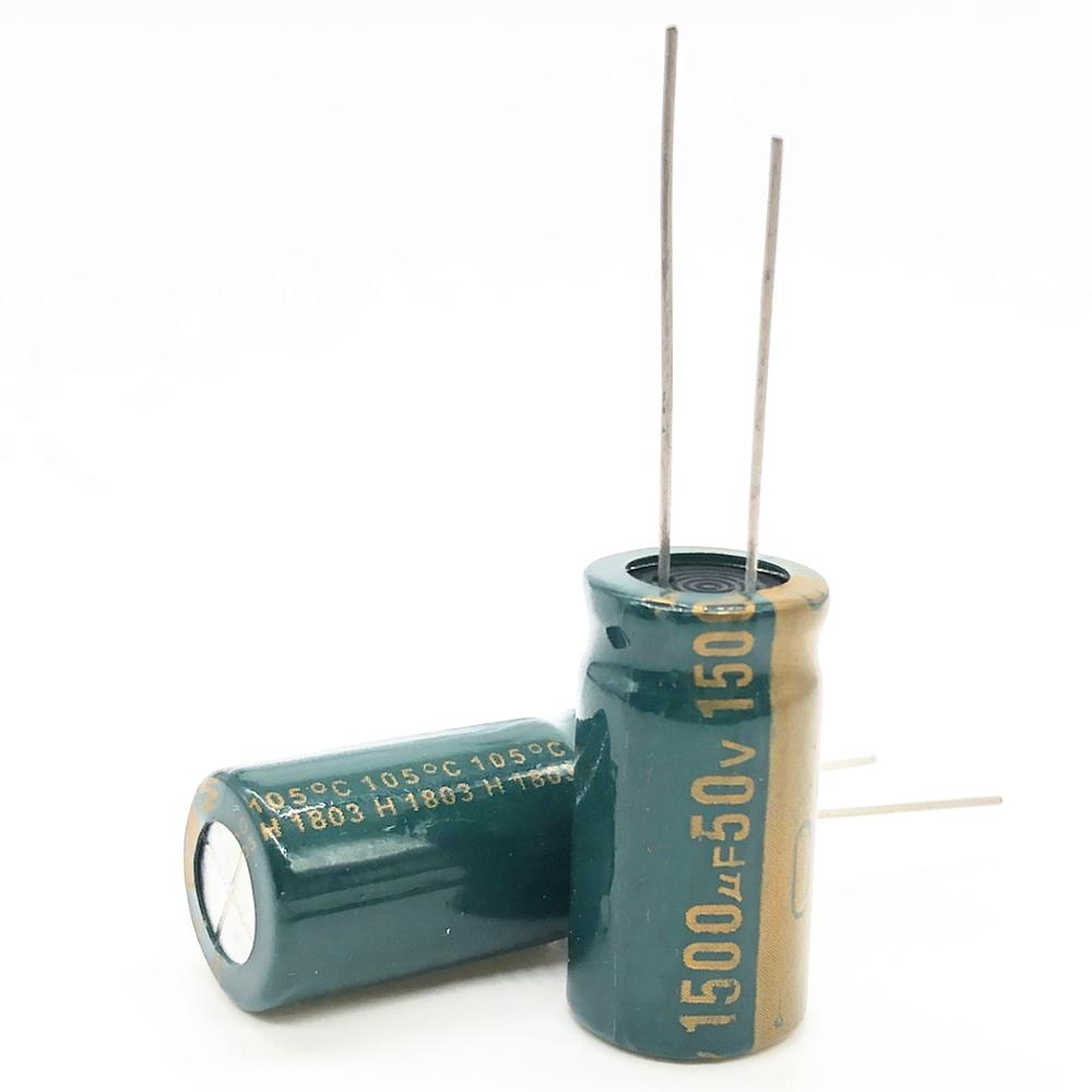 20pcs 50V 1500UF 13*25MM High Frequency Low Impedance Aluminum Electrolytic Capacitor 1500uf 50V 20%