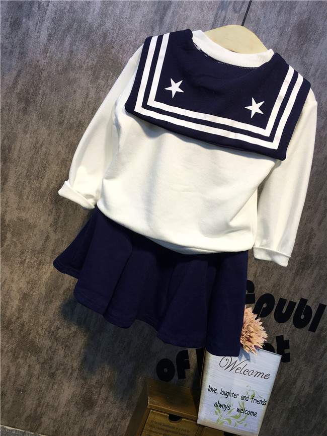 qız üçün yeni Navy stil dənizçi kostyum paltarı oğlan - Uşaq geyimləri - Fotoqrafiya 5