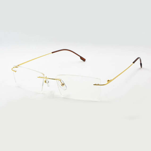 591f5f237cd placeholder Reven Jate Titanium Memory Flexible Rimless Frame Eyeglasses  Optical Prescription Glasses for Women and Men Frame