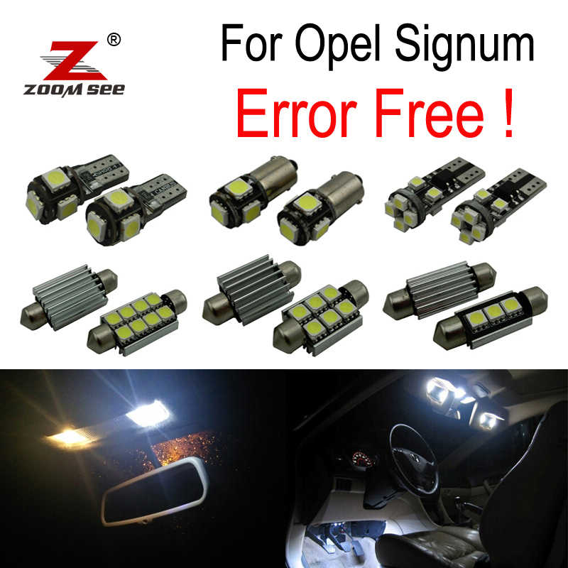 ZOOMSEEZ 12pcs license plate lamp for Opel Signum LED bulb Interior Light Kit  (2003-2008)