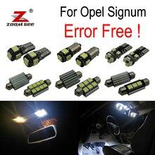 ZOOMSEEZ 12 шт. номерной знак лампа для Opel Signum светодиодный лампы Интерьер Свет комплект (2003-2008)
