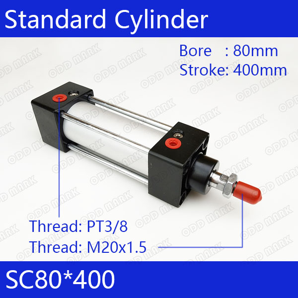 SC80*400 Free shipping Standard air cylinders valve 80mm bore 400mm stroke SC80-400 single rod double acting pneumatic cylinder cdu bore 6 32 stroke 5 50d free mount cylinder double acting single rod more types refer to form