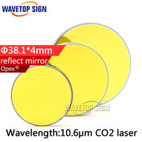 Free Shipping High Quality Si Reflect Mirror Diameter 38 1mm Thickness 4mm Coated Gold For CO2