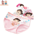 2 Pcs/lot Children Underwear Girl's Triangle Underwear Solid Color Cotton Cartoon Girl's Triangle Underwear for 2-8 Y ATNN0147