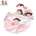2 Pcs/lot Children Underwear Girl's Triangle Underwear Solid Color Cotton Cartoon Girl's Triangle Underwear for 2-8 Y ATNN0147