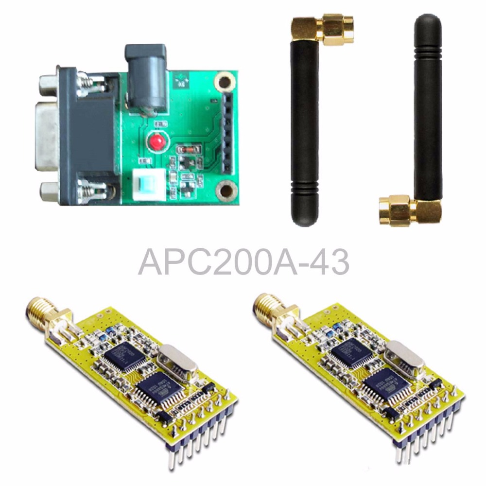 APC200A-43 wireless data transmission module / set with a serial board set nrf24le1 wireless data transmission modules with wireless serial interface module dedicated test plate