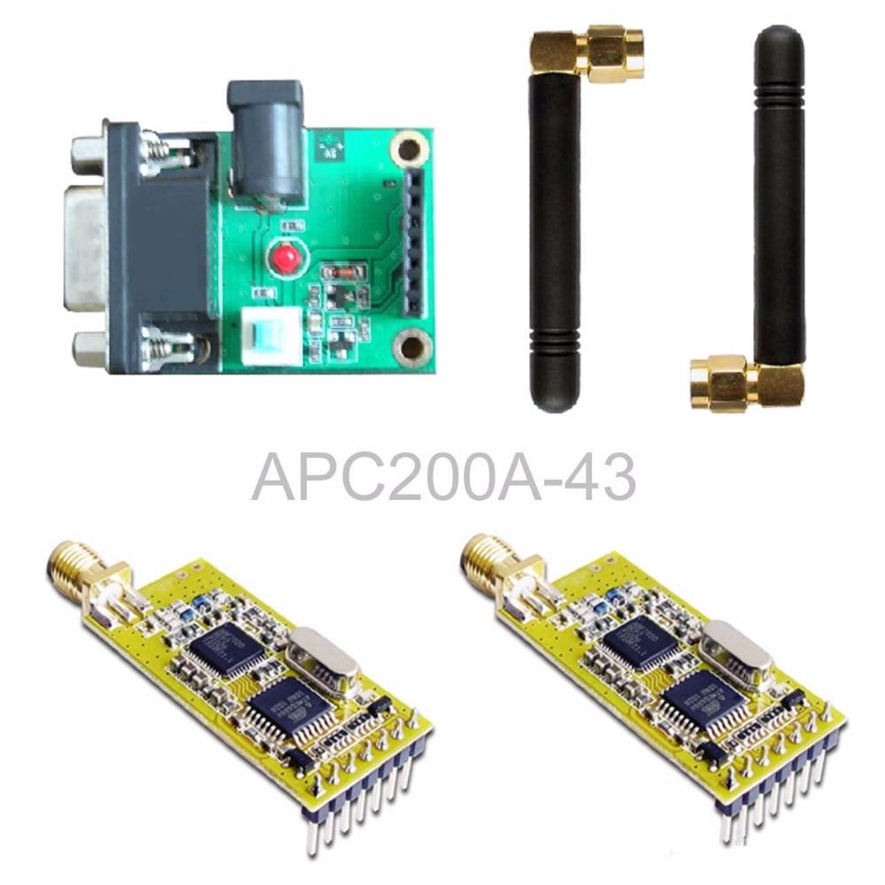 APC200A-43 wireless data transmission module / set with a serial board set esp 07 esp8266 uart serial to wifi wireless module