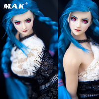 Cosplay 1/6 Another Space 1:6 Scale Ob27 Blue Hair Double Braid Ver. Head Model For 12 Female Action Figure girl Doll