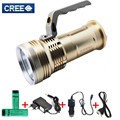 Cree T6 LED Searchlight Flashlight  Long Range Led Flashlight Rechargeable Flash Searchlight  Torch for Camping Hunting fishing
