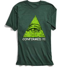 All Seeing Eye T-shirt Men Illuminati Confirmed T Shirt O-Neck Tshirt Summer Military 2018 Discount 100% Cotton Tops Tees