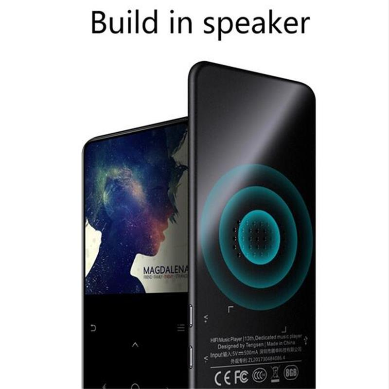 2.4 Inch Big Screen Bluetooth MP3 Music Player Original IQQ-C6 Built-in Speaker 16gb Lossless Sound Portable Player With FM
