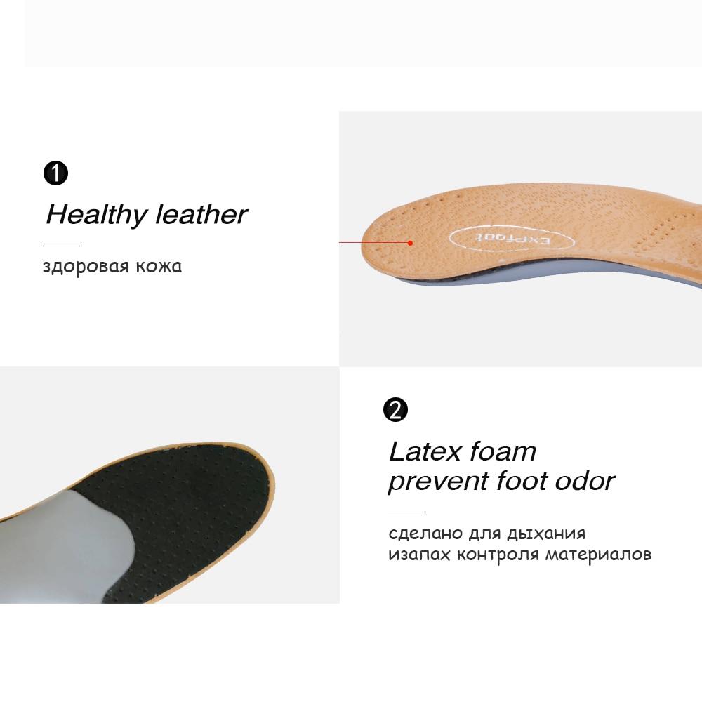 Plantillas ortóticas de cuero 3D Premium para pie plano, plantillas de soporte ortopédico con arco, zapatos para hombre y mujer