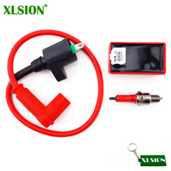 XLSION Racing Ignition Coil + 5 Pins AC CDI Box + Spark Plug A7TC For Chinese 50 70 110 125 160cc CRF50 Pit Dirt Bike ATV Quad