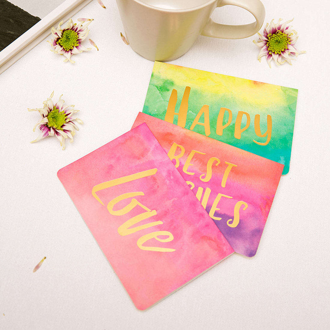 Hot Sale Watercolor Birthday Invitation Card Message Card With