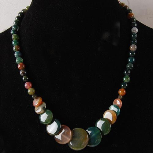 free shipping 6-20mm Natural colorful India Onyx Coins Pendant Necklace 17.5free shipping 6-20mm Natural colorful India Onyx Coins Pendant Necklace 17.5