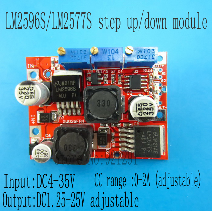 2pcs/lot DC Auto Boost Buck Converter LM2596 LM2577 4-35V to 1.25-25V 3A Step-up step-down Module Regulator with CC CV Charging 10pcs lot mp2307dn lf z mp2307dn mp2307 3a 23v 340khz synchronous rectified step down converter