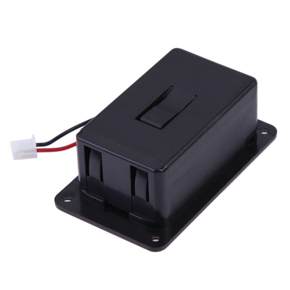 1pc ABS 9V Battery Box Case Cover Holders for Guitar Bass Pickup for Ukulele With Wires Black Replacement Battery Holder Box replacement 3 7v 3600mah extended battery w battery cover case for lg optimus l7 p700