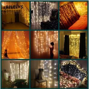 Image 4 - JULELYS 10m x 4m 1280 Lampen LED Hochzeit Dekoration Vorhang Lichter Weihnachten Girlanden Urlaub Lichter Für Hinterhof Platz garten