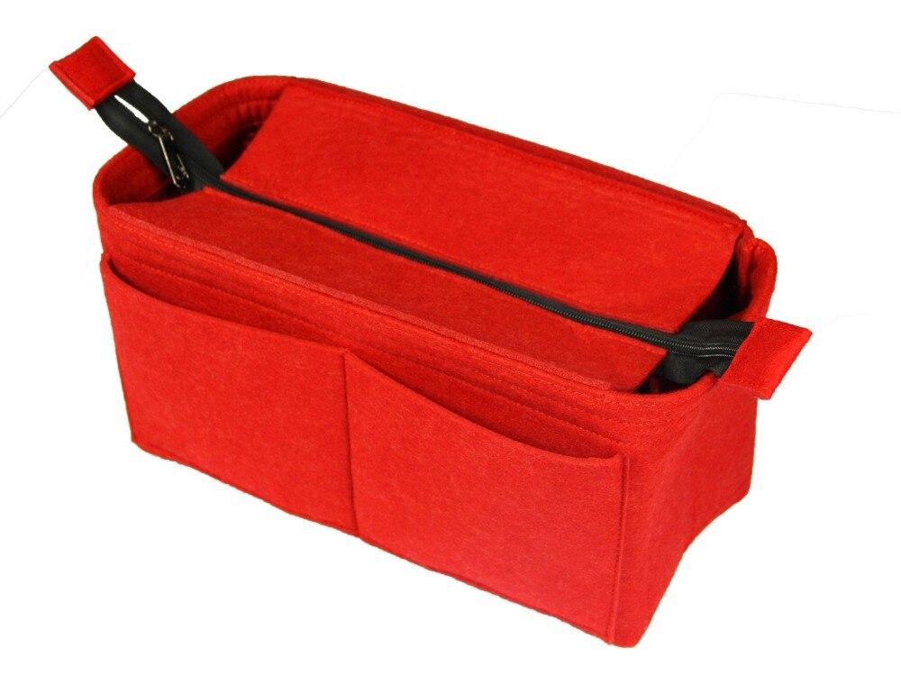 Customizable Felt Tote Organizer (w/ Top Zipper) Neverfull MM GM PM Speedy 30 25 35 40 Purse Insert Diaper Bag