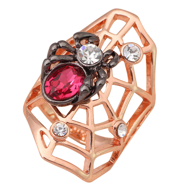 Spider design Italina Seduction Rose Crystal Zirconia Fine rose gold