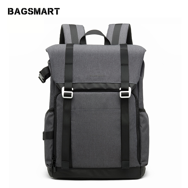 BAGSMART DSLRCamera Backpack Waterproof Camera Backpack With Rain Cover Backpack for Laptop Camera Lens Travel Camera Bags image