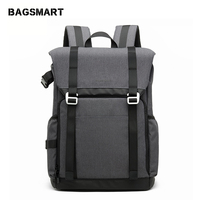 BAGSMART DSLRCamera Backpack Waterproof Camera Backpack With Rain Cover Backpack for Laptop Camera Lens Travel Camera Bags