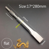 270MM Length Hexagonal Handle Electric Hammer Chisel Spade Drill And Sharp Drill Bit For Brick Wall