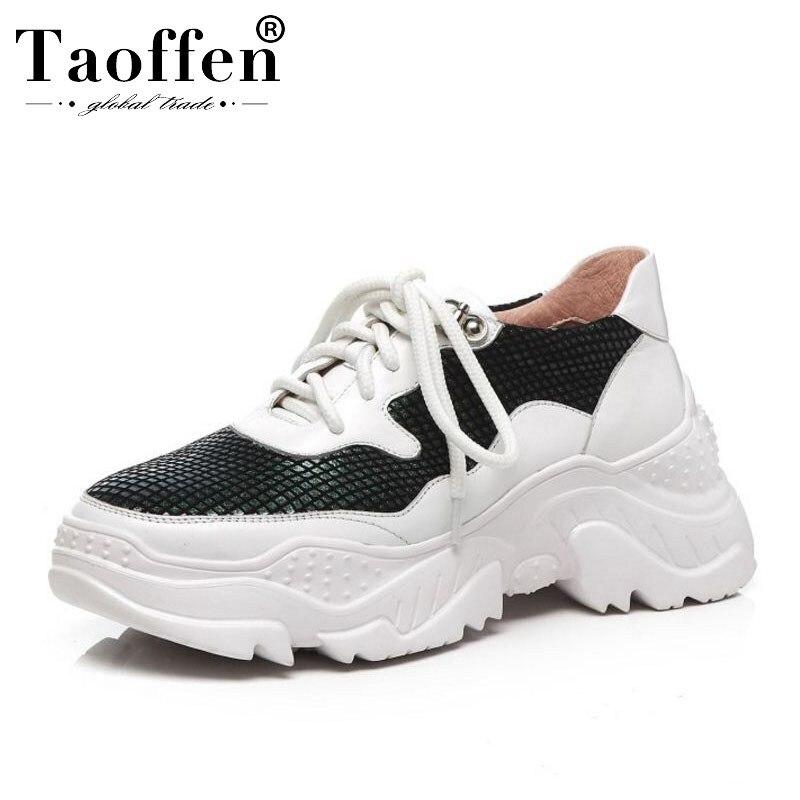 Tamaño Al Taoffen Zapatos Libre Aire Amortiguación Cuero Zapatillas Casuales Blanco Cuñas 39 Deporte Genuino Bling Las De Malla 34 Mujeres Mujer Tdrdqw